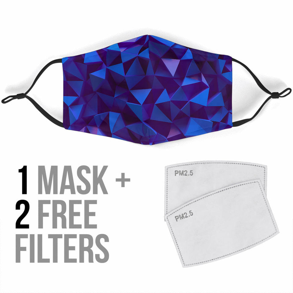 Purple Geometry Face Mask