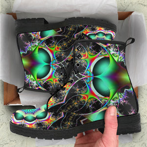 Psychedelic Visions Leather Boots