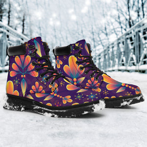 Floral Pattern Classic Boots