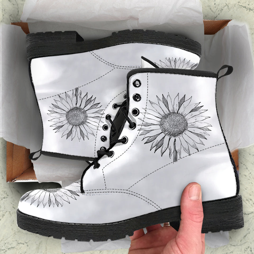 Vintage Sunflower Boots