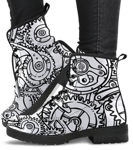 Black & White Steampunk Boots