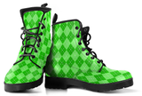 Lime Plaid Boots