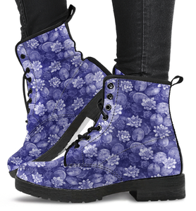 Lotus Flower Pattern Boots