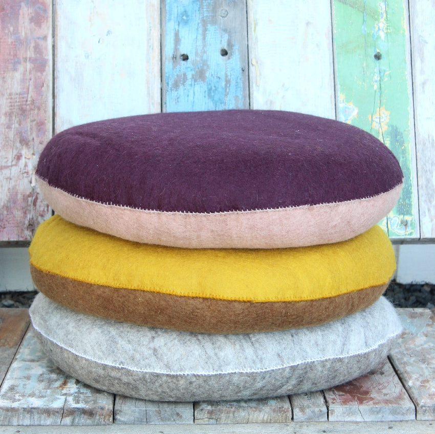 Felt Cushion - Bicolor Chakra - Stone & Grey