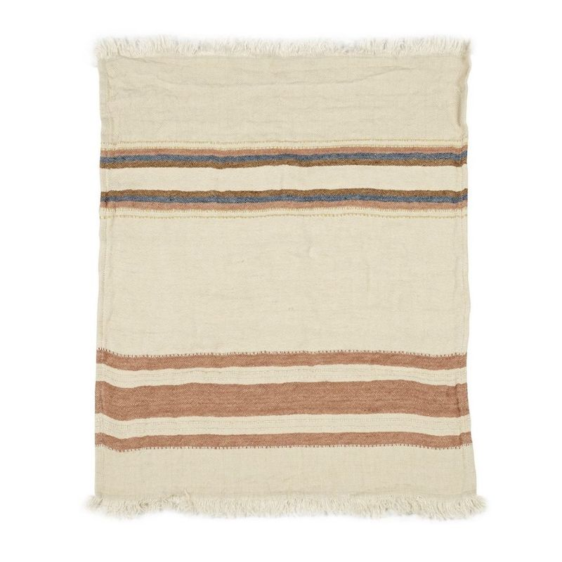 Belgian Linen Throw & Towel - Harlan Stripe
