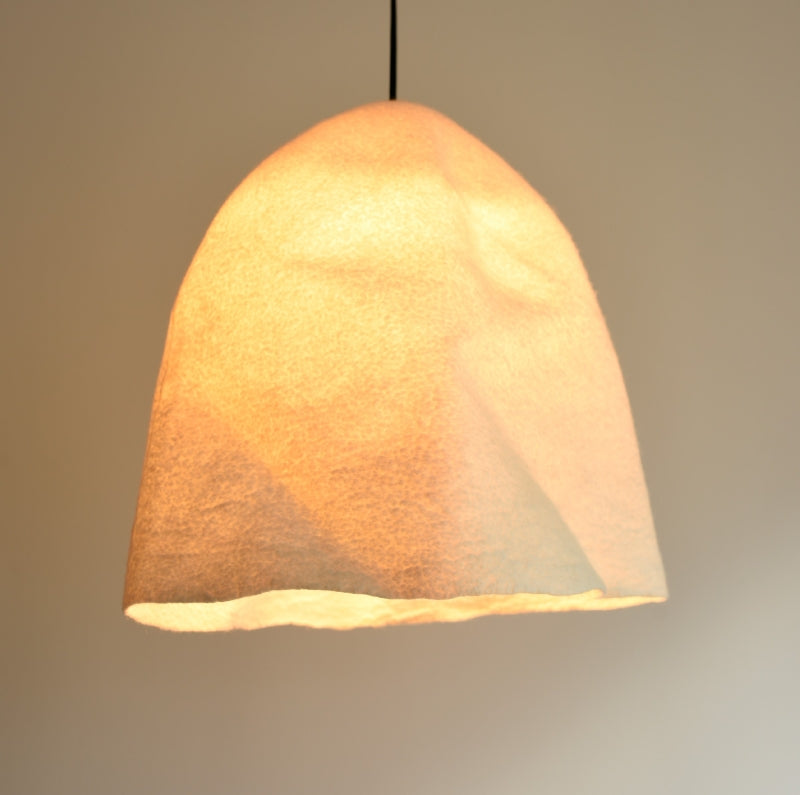 Merino Wool Felted Lampshade