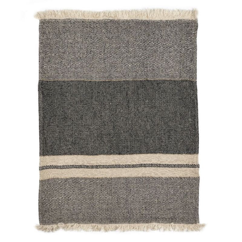 Belgian Linen Throw & Towel - Tack Stripe