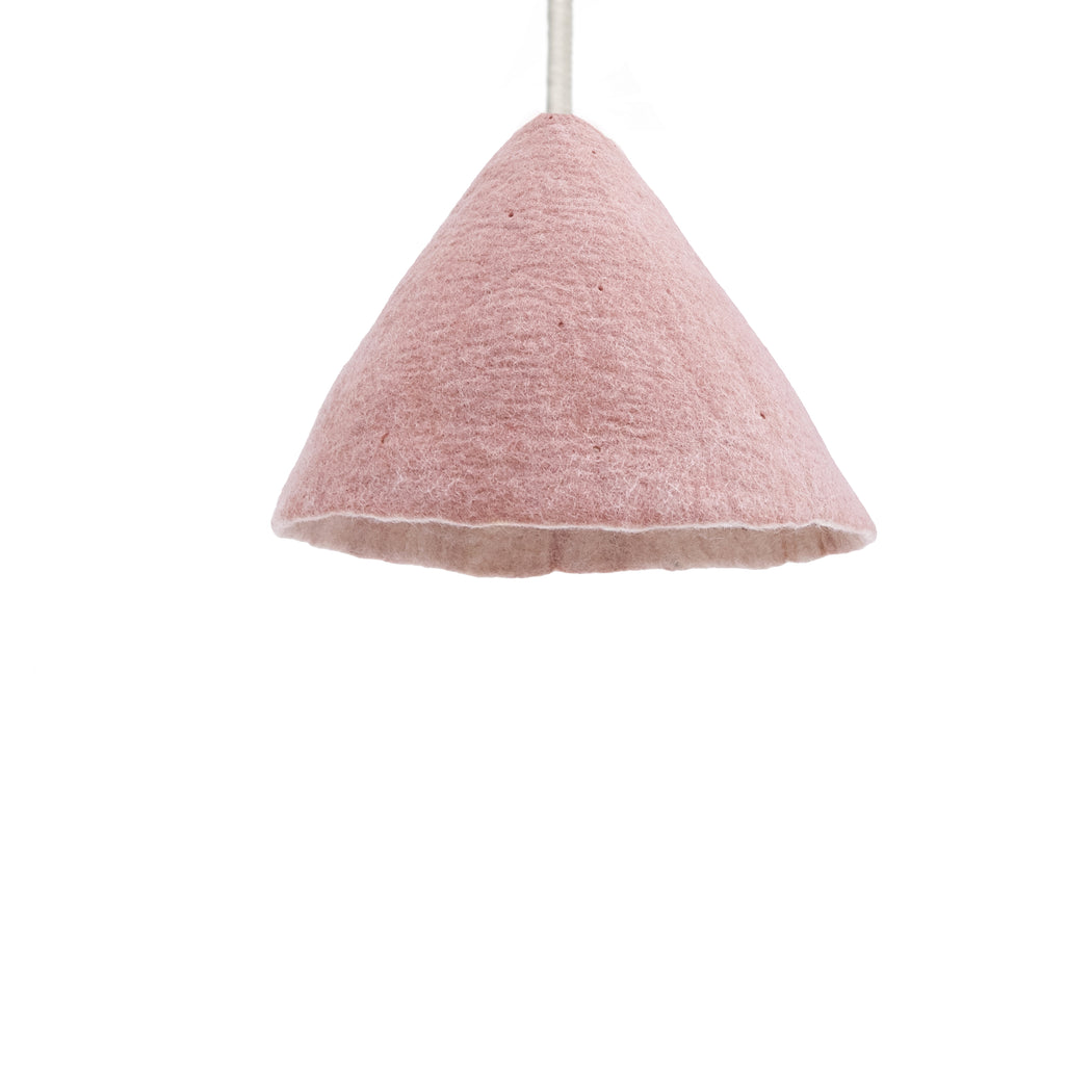 Felt Lampshade W - Reversible Quartz Pink / Natural
