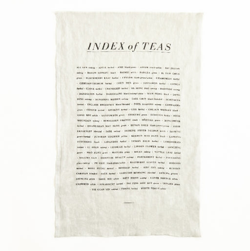 Tea Towel - Index of Teas