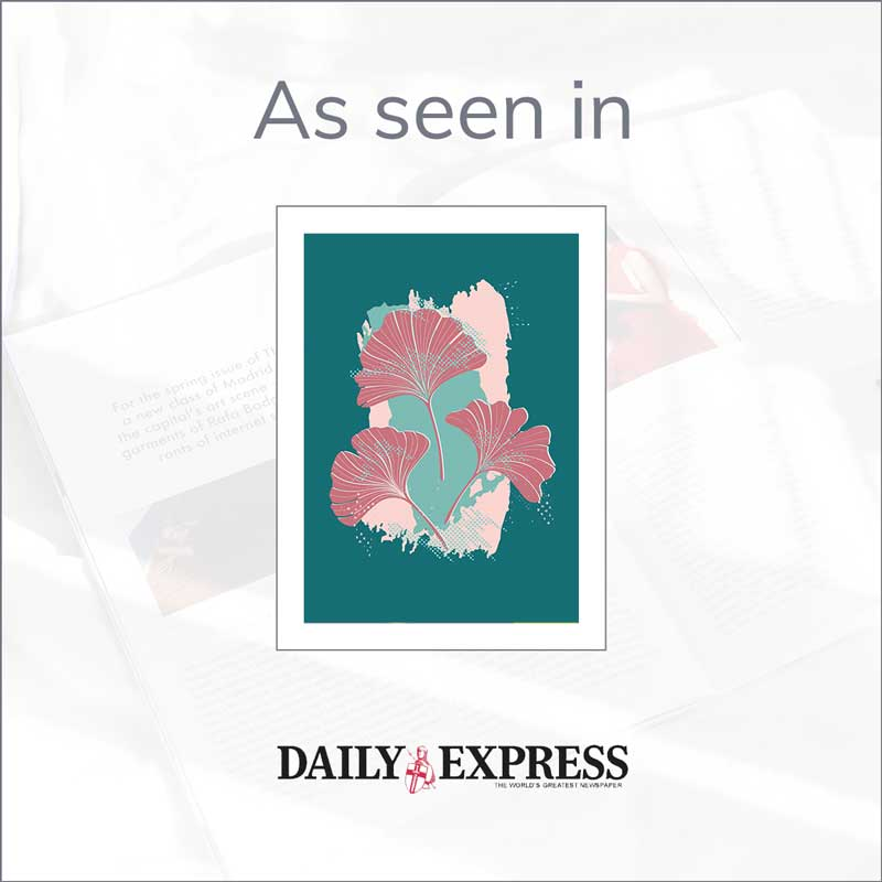Claude & Leighton Ginkgo Leaves art print in the Daily Express Mother's Day Gift Guide
