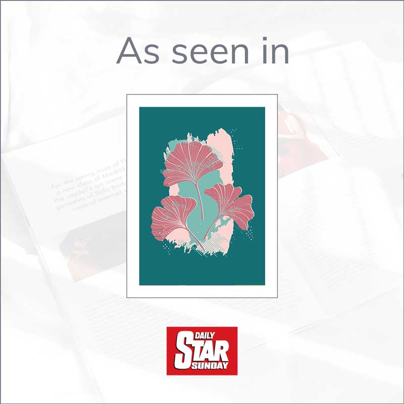 Claude & Leighton Ginkgo Leaves art print in the Daily Star Sunday Mother's Day Gift Guide