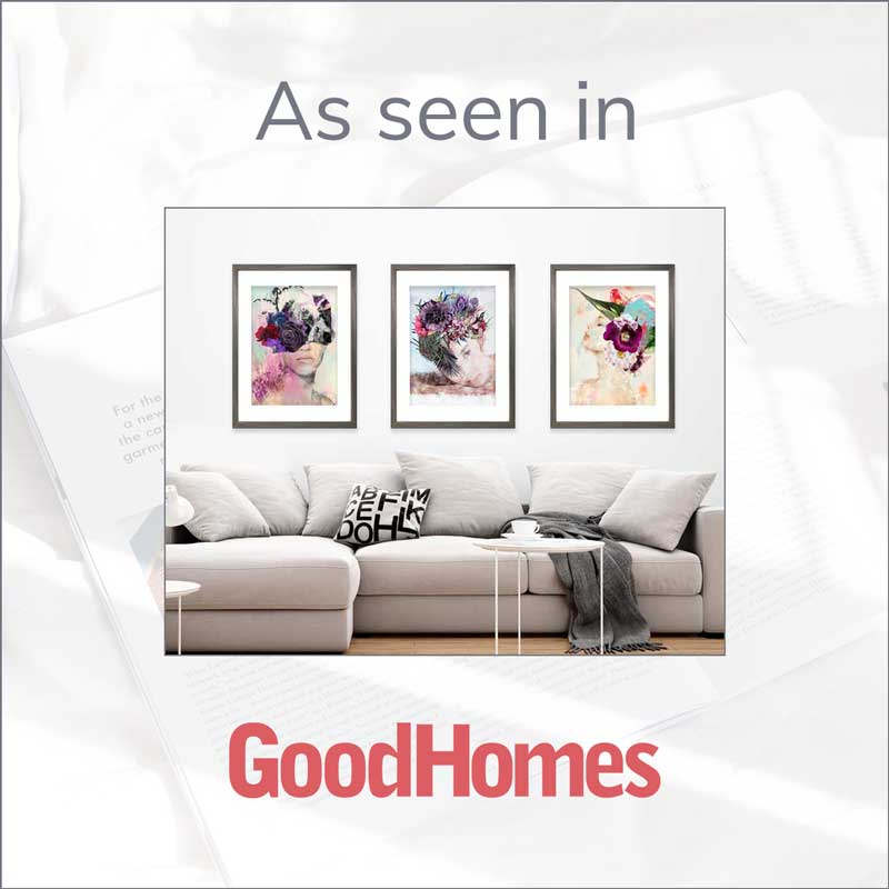 Claude & Leighton portrait art prints featured in Good Home's galentine's gifts feature