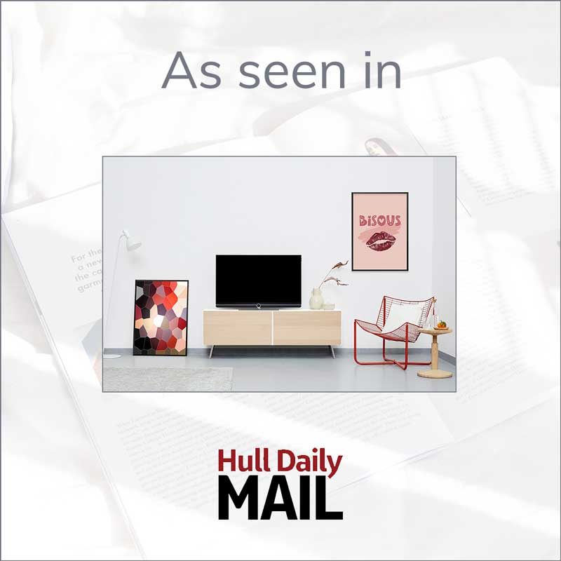 Claude & Leighton art prints feature in Hull Daily Mail's round up of stylish red homeware
