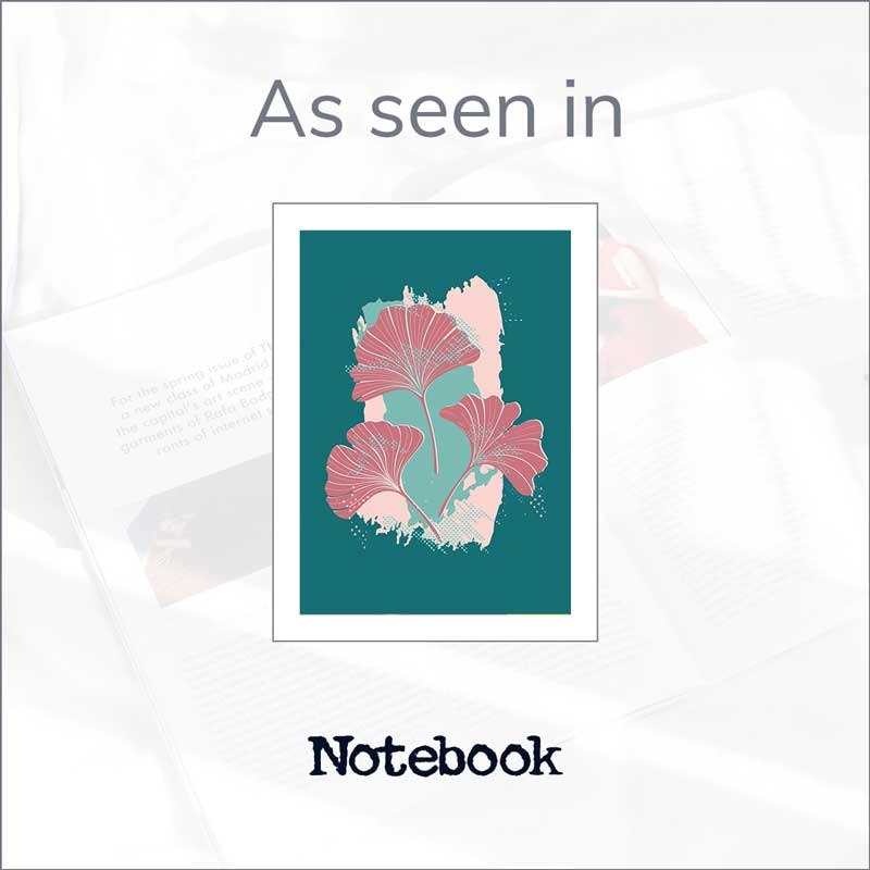 Claude & Leighton Ginkgo Leaves art print in the Sunday Mirror Notebook Magazine's Mother's Day Gift Guide