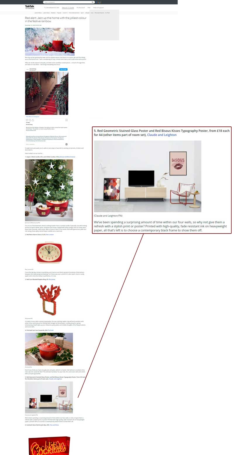 Claude & Leighton in Talk Talk hot red products round-up