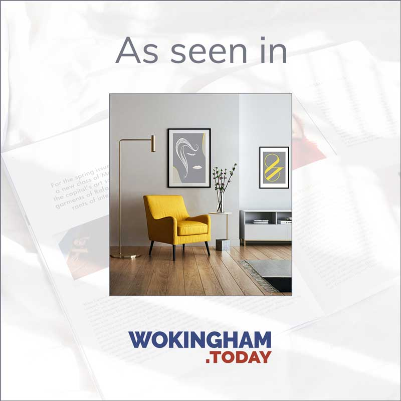 Claude & Leighton on trend colour art prints featured in Wokingham Today