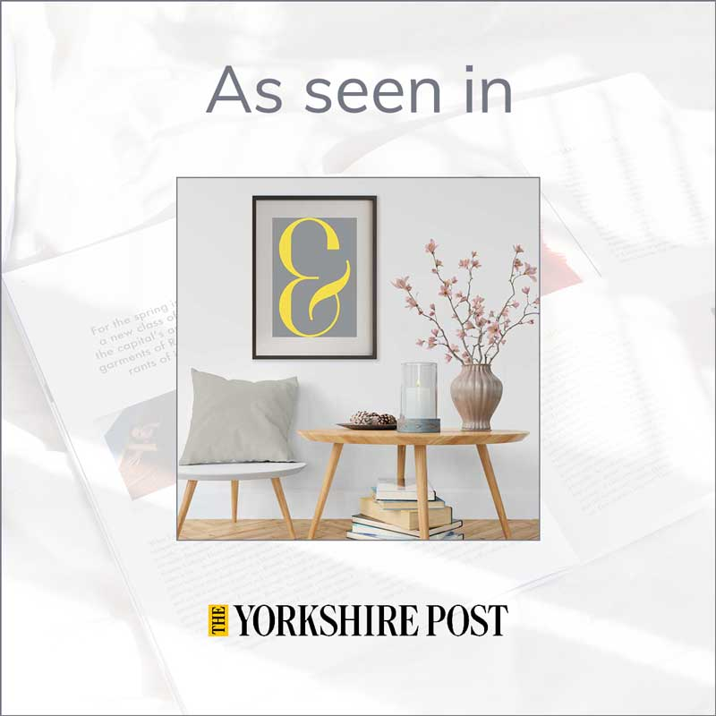 "Claude & Leighton Ampersand typography poster features in the Yorkshire Post ""Best Buys"""