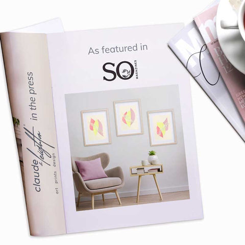 Claude & Leighton Summer fruit pastel abstract art prints as featured in SO magazine May 2021