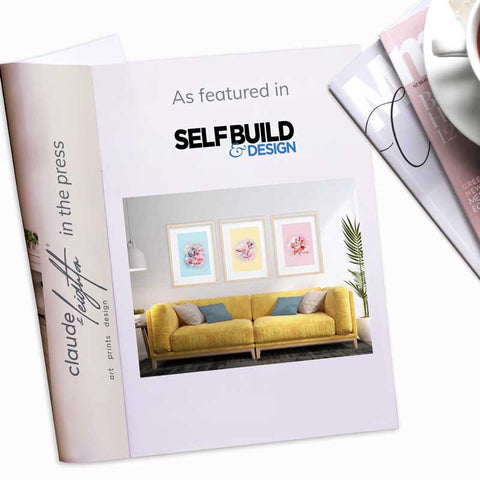 Claude & Leighton abstract floral botanical art prints as featured in Self-Build & Design magazine June 2021
