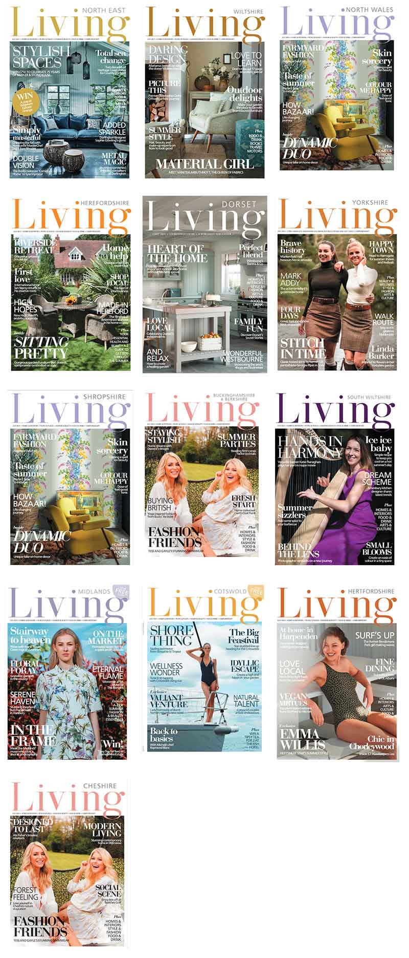 Claude and Leighton lavender ampersand typography print featured in 13 Living Magazines in July 2021