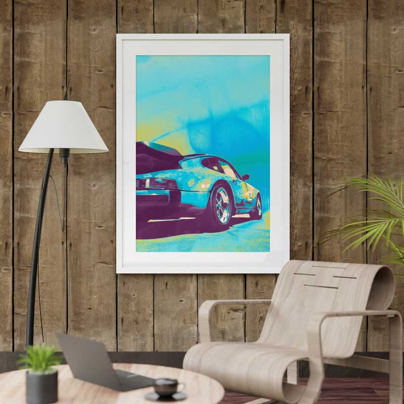 Father's Day art print by Claude & Leighton to make a man cave pop with colour