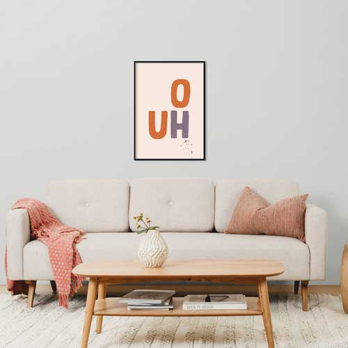 Orange wall art, prints & posters from Claude & Leighton