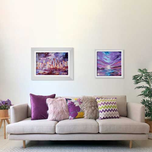 Buy purple prints, posters & wall art online at Claude & Leighton