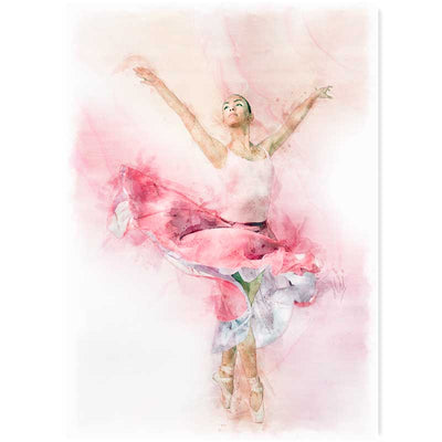 Ballerina with the Pink Skirt fine art print of a dancer - Claude & Leighton