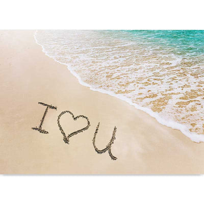 Beach Love Message photography art print - love note in the sand by Claude & Leighton