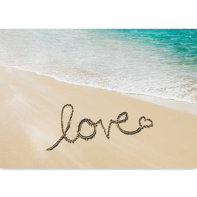 Beach Love photography art print - love message in the sand by Claude & Leighton