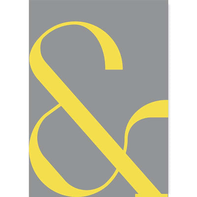 Illuminating Yellow/Ultimate Gray Contemporary Ampersand Typography Poster by Claude & Leighton