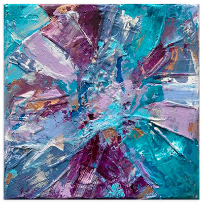 Purple & turquoise abstract art print - Dreams II by Jayne Leighton Herd at Claude & Leighton