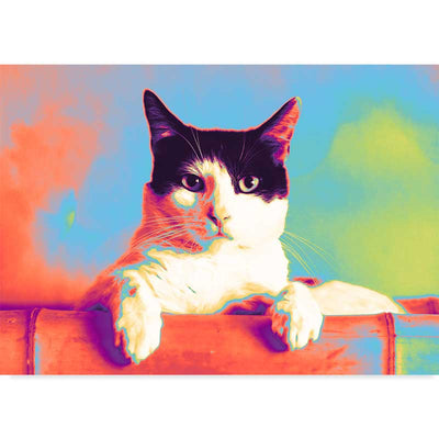 Why Did You Wake Me Abstract Cat Art Print - Claude & Leighton
