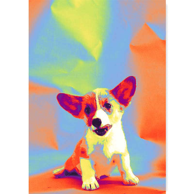 Abstract Jack Russell Puppy Dog Art Poster - Claude & Leighton