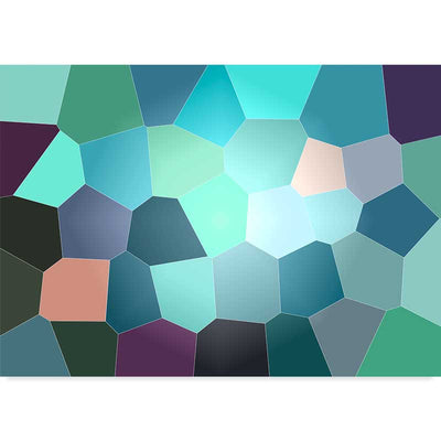 Green Geometric Abstract Stained Glass Poster available at Claude & Leighton