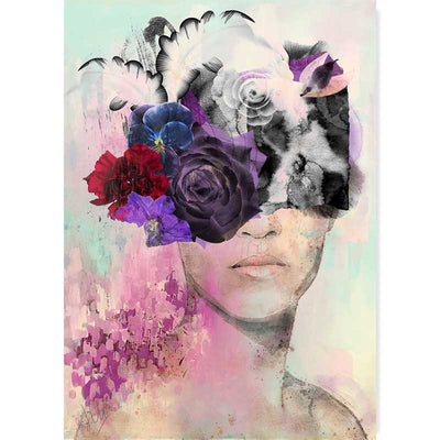 Lady with the Purple Rose Portrait Art Print - Claude & Leighton