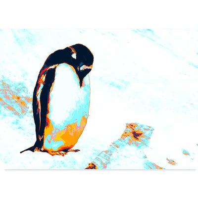 Emperor Penguin Illustrated Wall Art Poster at Claude & Leighton