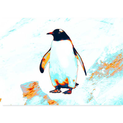 King Penguin Illustrated Wall Art Poster at Claude & Leighton