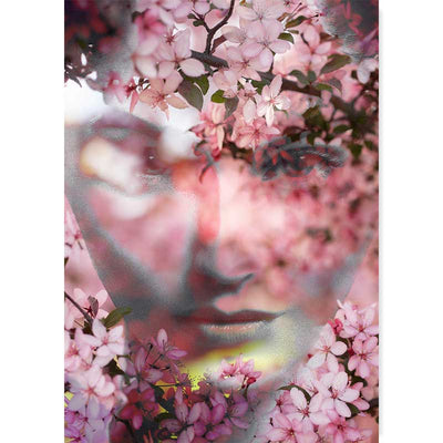 Art photography poster - Pink Flowers in Her Eyes - Claude & Leighton
