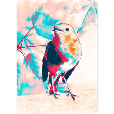 Robin art print - bird wall art - Claude & Leighton