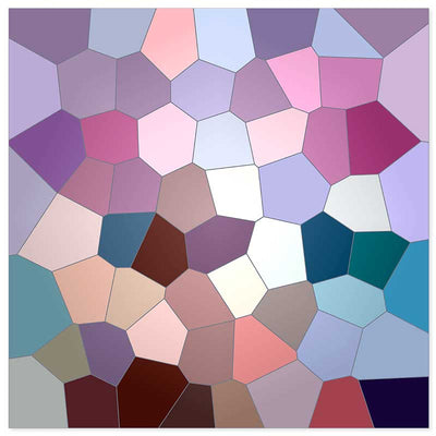 Pink & violet geometric abstract stained glass poster at Claude & Leighton