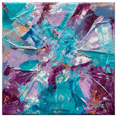 Purple & turquoise abstract art print - Dreams I by Jayne Leighton Herd at Claude & Leighton