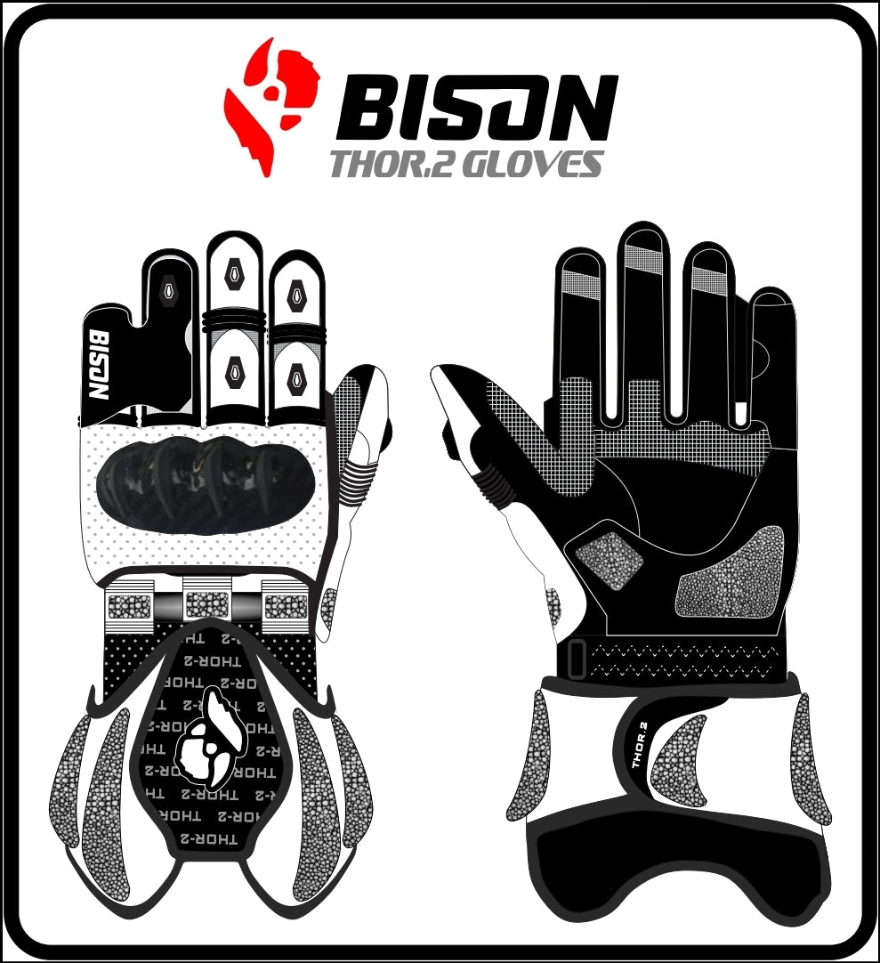Bison Track Thor.2 Motorcycle Racing Gloves