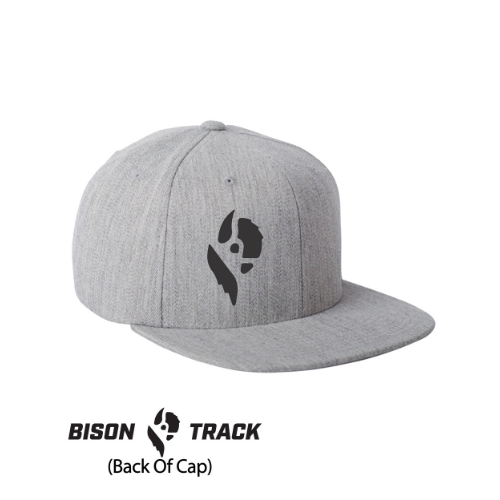 Bison Track Thor Flat Bill, Fitted Hat
