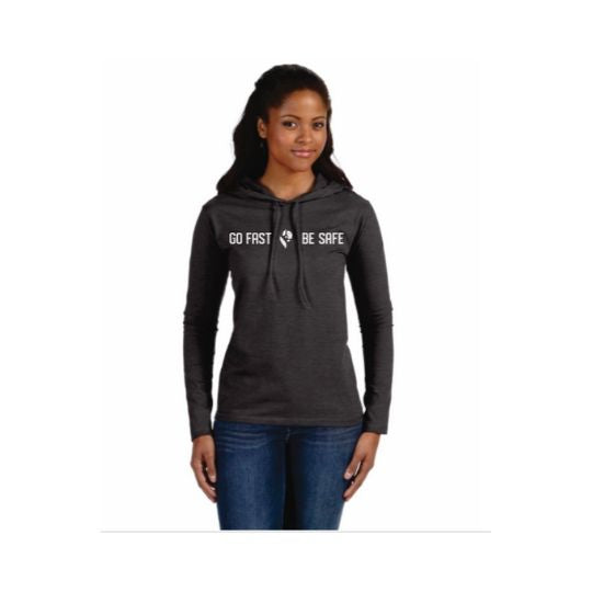 Bison Track Grit Women's Long-Sleeve Hooded T-Shirt
