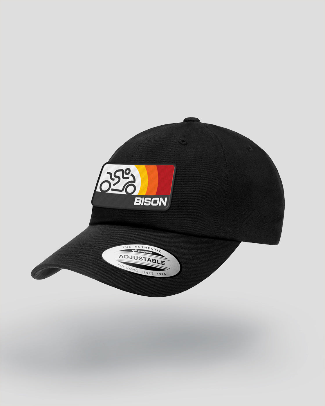 Bison Track Sonic Curved Bill, Adj Hat