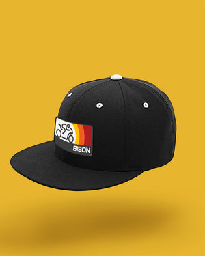 Bison Track Sonic Flat Bill, Fitted Hat