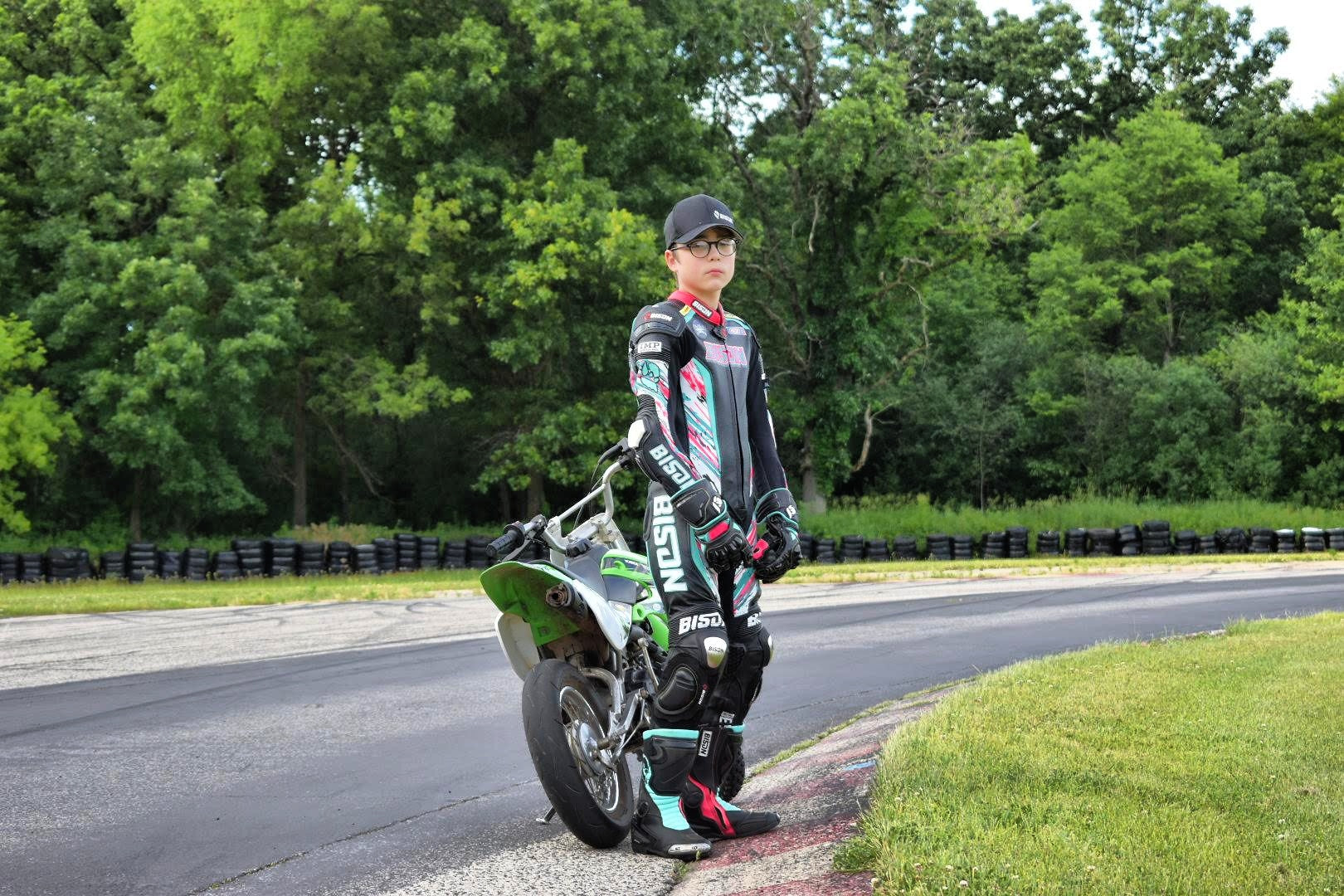 Bison Track Thor.1 Youth Custom Motorcycle Racing Suit