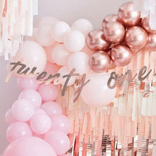 Load image into Gallery viewer, 21st Rose Gold Happy Birthday Banner Bunting - The Party Room