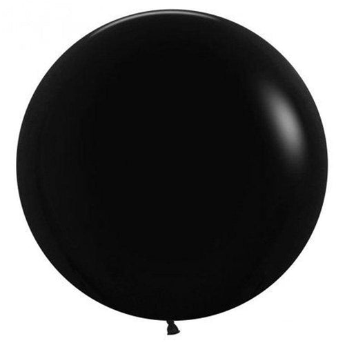 Large 60cm Black Balloons - The Party Room
